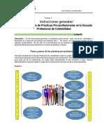 TEMA 1 Orientaciones Generales de Prácticas pre profesionales