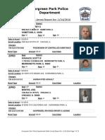 Evergreen Park Arrests Jan. 14-22, 2016