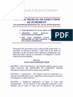 NLRC Manual on Excution of Judgment