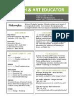 educator resume