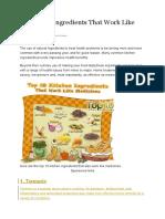 10 Bahan Dapur Jadi Ubat