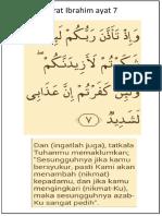 Surat Ibrahim Ayat 7