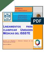 Lineamientos Para Clasificar Unidades Medicas ISSSTE