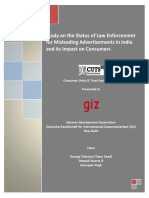 Study on the Status of Law Enforcement for Misleading Advertisements in India