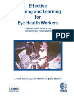 Effective Teaching and Learning for Eye Health Workers