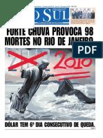 Capa do jornal O Sul
