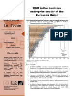 R&D in the business enterprise sector of the European Union