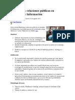 Marketing y Relaciones Públicas en Unidades de Información