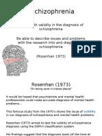 schizophrenia and validty