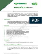 Prog. Java Nivel I