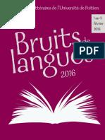 Bruits de Langues 2016