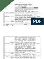 Ufpb - Cronograma de Estudos