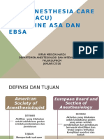 PACU 1 - ESA + ASA GUIDELINES