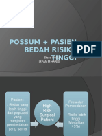 PACU 2 - POSSUM + HIGH RISK SURGICAL PATIENT