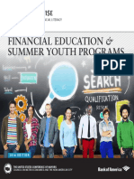 Financial Education & Summer Youth Programs (2016 edition)