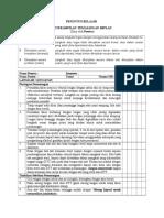 Daftar Tilik Implan Dan Iud