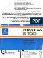 Praktica B100 Manual
