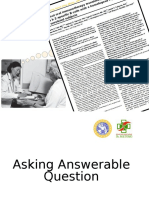 MKDU EBM July 2015-Dr. Anang-Asking Answerable Question