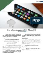 Meu Primeiro App Para IOS - Tópico UM