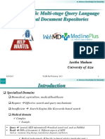 Domain specific multi-stage query language for medical document repositories