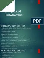 5 Types of Headaches