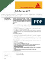 Membrana Impermeable Asfaltica Sika Manto Pro Garden App
