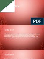 Checksum (Komunikasi Data)