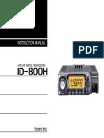 ICOM Id-800h User Operation Manual