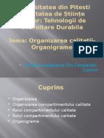 Tema 3. Organizarea Calității - Organigrame