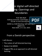 Designs for Digital Self-directed Learning