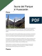 Flora y Fauna Del Parque Nacional Huascarán
