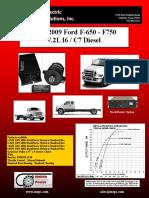 Ford F650-F750 7.2L I6-C7 Diesel 2003-2009