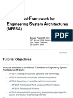 The Method Framework for Engineering System Architectures (MFESA) Tutorial