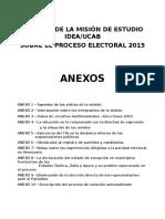 VEN 2015 Evaluacion Condiciones Previas Eleccion IDEA-UCAB Anexos