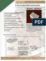 Actox 40W Ku-band BUC/SSPA Data Sheet ABDN40KX