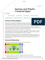 Syllabus Creative, Serious and Playful Science of Android Apps
