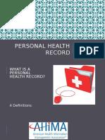informatics week 6 personal health record presentation