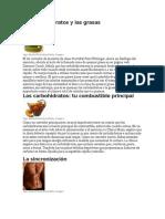 Los Carbohidratos y Las Grasas