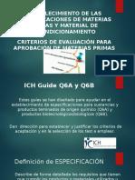 Establecimiento de Especificaciones de Materias Primas y Material de Acondicionamiento
