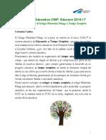 Proyecto Educativo CMP Educere 2016