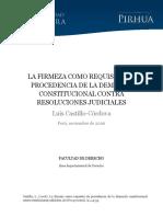 Firmeza Requisito Procedencia Demanda Constitucional