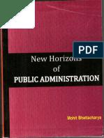 New Horizon of Public Administration by Mohit Bhattacharya
