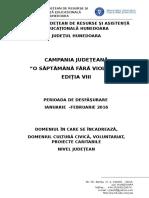 Campania O saptamana fara violenta 2016.doc
