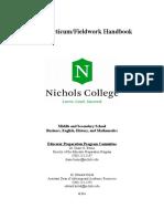 pre practicum handbook