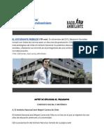 Radio Ambulante y el Estudiante Rebelde por Alberto Bruzos Moro