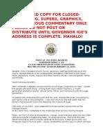 Gov. David Ige's State of the State Address 2016