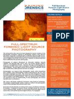 TFT 16 FLSP 011 Forensic Light Source Photography April 2016