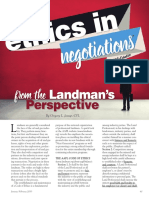 ethics in negotiations article - landman mag jan-feb 2016