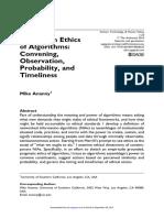 Toward an Ethics of Algorithms