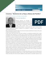 001 Columna Sentencia de La Haya y Alianza Del Pacifico